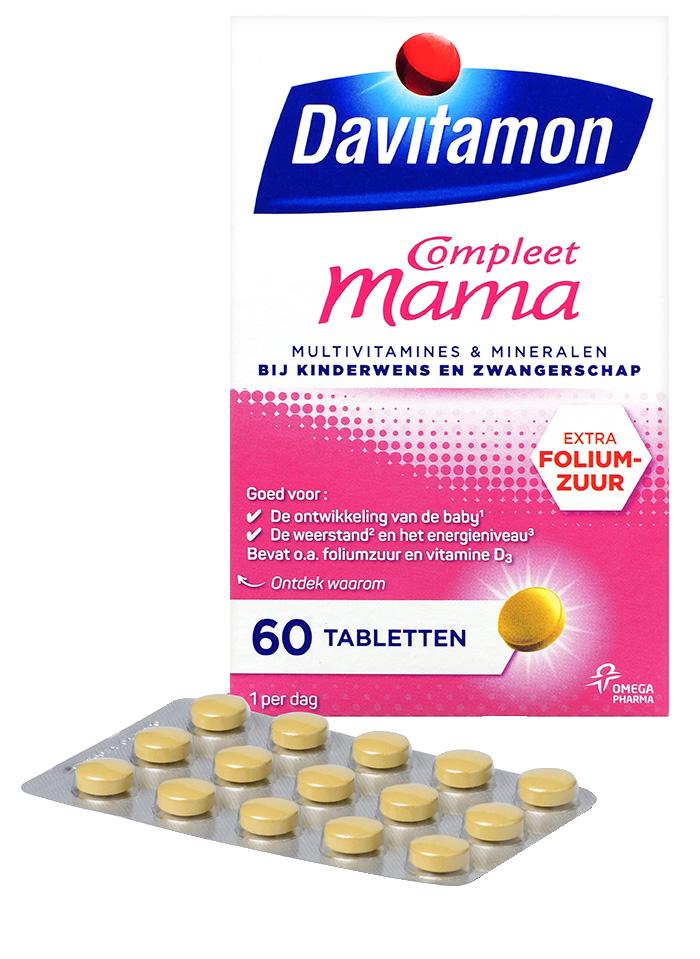 Davitamon Compleet Mama Tabletten Verpakking totaal