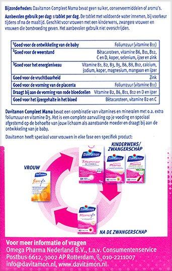 Davitamon Compleet Mama Tabletten Beschrijving