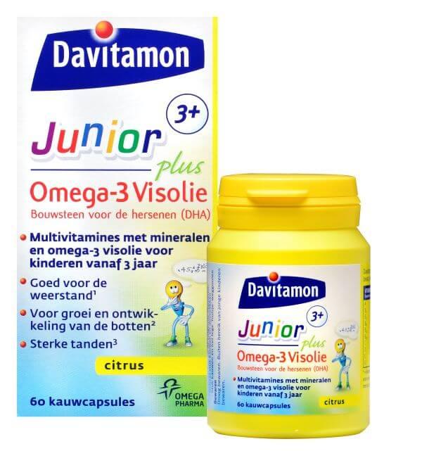 Davitamon Junior 3-12 Omega-3 Visolie – 60 Kauwcapsules