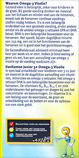 Davitamon Junior visolie Kauwcapsules Beschrijving