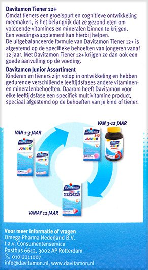Davitamon Vitamine C Forte Bruistabletten Beschrijving