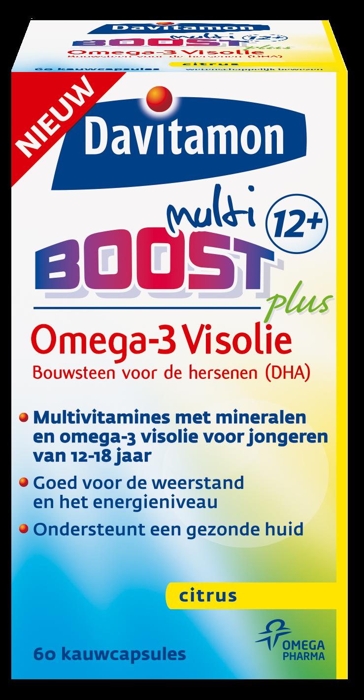 Davitamon Multi Boost Visolie Kauwcapsules Verpakking
