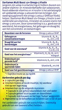 Davitamon Multi Boost Visolie Kauwcapsules Beschrijving