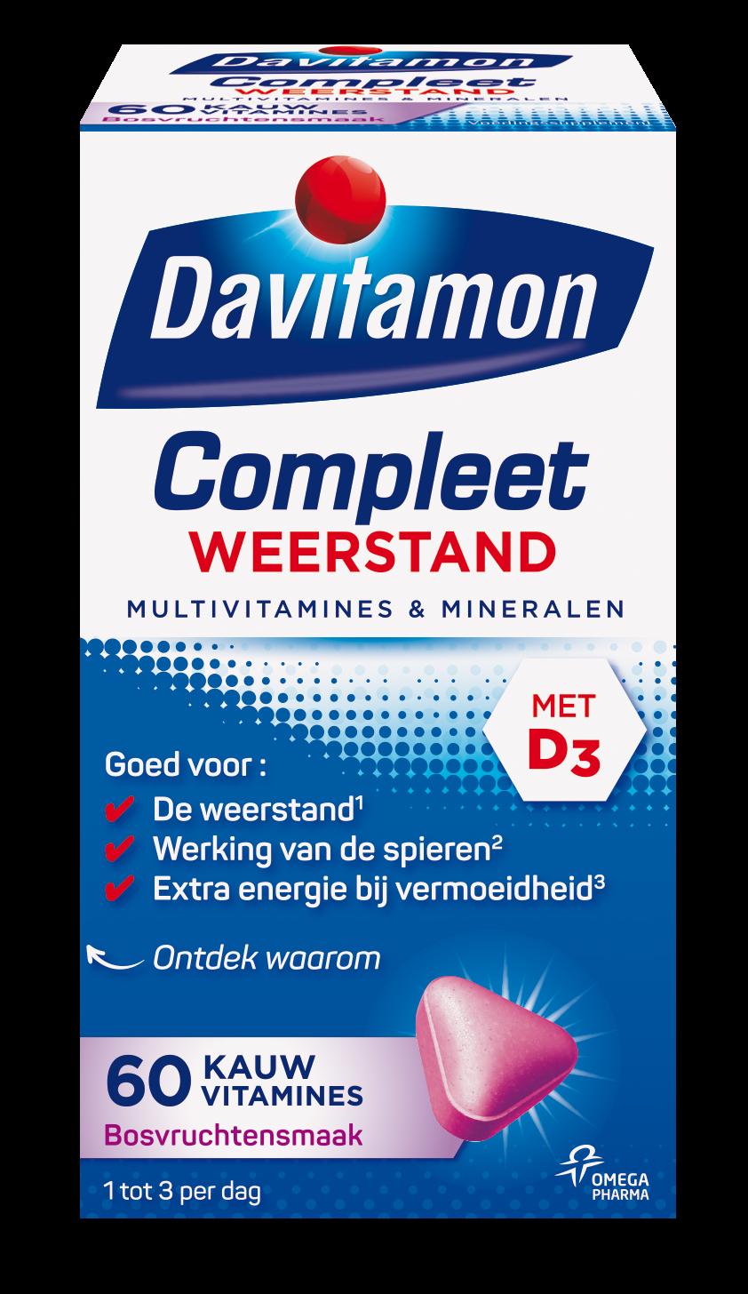 Davitamon Compleet Weerstand Bosvruchten Kauwvitamines Verpakking
