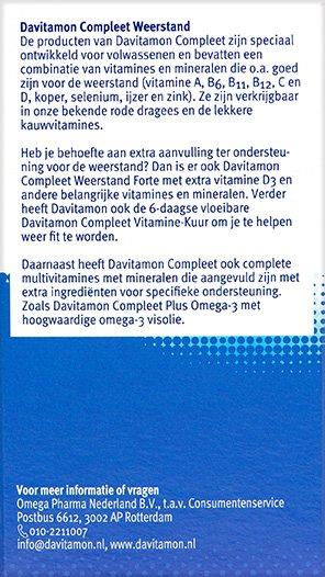 Davitamon Compleet Weerstand Bosvruchten Kauwvitamines Beschrijving