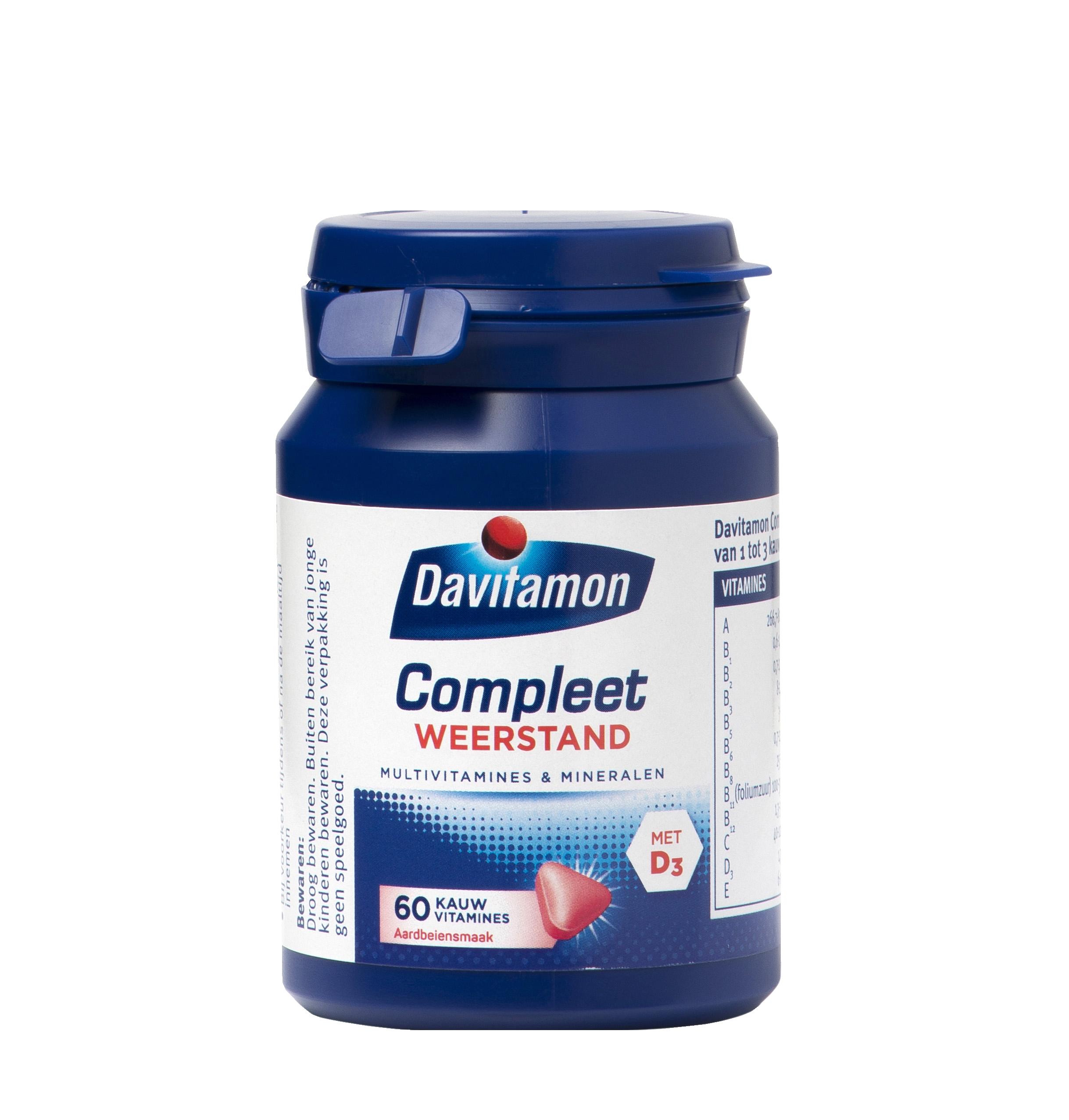 Davitamon Compleet Weerstand Aardbei Kauwvitamines Product