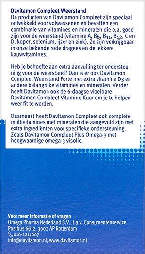 Davitamon Compleet Weerstand Aardbei Kauwvitamines Beschrijving
