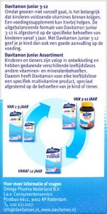 Davitamon Junior 3-12 Multifruit Kauwtabletten Beschrijving