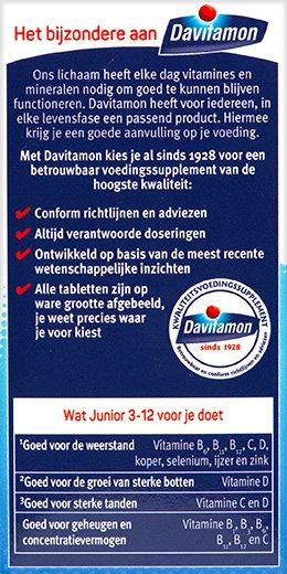Davitamon Junior multifruit Kauwtabletten Voordelen