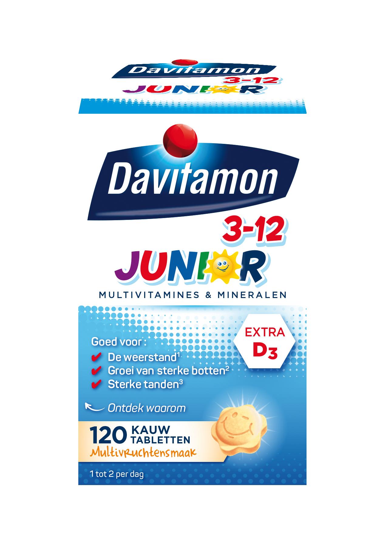 Davitamon Junior multifruit Kauwtabletten Verpakking 2