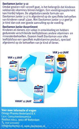Davitamon Junior multifruit Kauwtabletten Beschrijving 2
