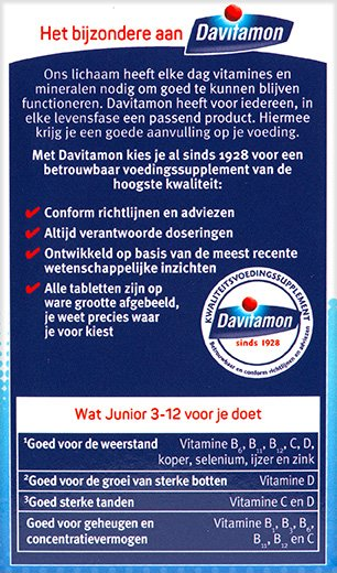 Davitamon Junior multifruit Kauwtabletten Voordelen 2