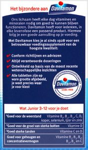 Davitamon Junior 3-12 Multifruit Kauwtabletten Voordelen 2