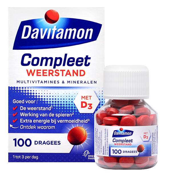 Davitamon Compleet Weerstand Dragees Verpakking totaal
