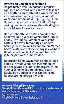 Davitamon Compleet Weerstand Dragees Beschrijving