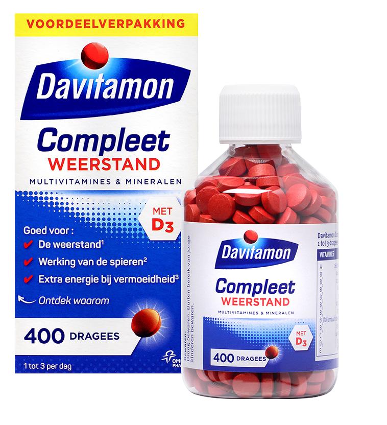 Davitamon Compleet Weerstand Voordeel Dragees Verpakking totaal