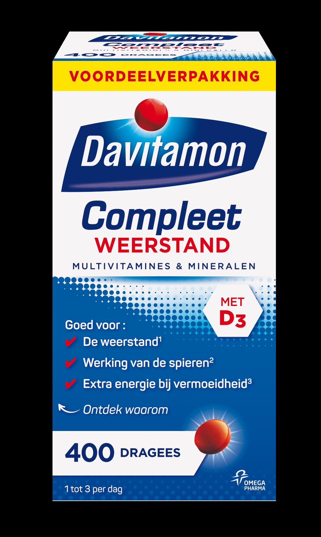 Davitamon Compleet Weerstand Voordeel Dragees Verpakking