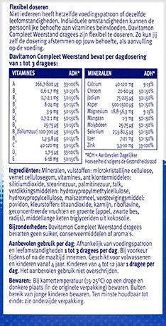 Davitamon Compleet Weerstand Voordeel Dragees Ingredienten