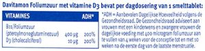 Davitamon Foliumzuur Vitamine D3 Tabletten Dosering