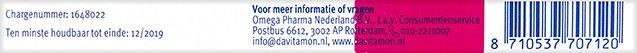 Davitamon Foliumzuur vitamine D3 Smelttabletten Informatie