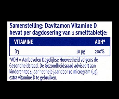 Davitamon Vitamine D Kinderen Smelttabletten Dosering