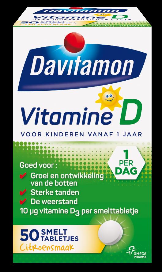 Davitamon Vitamine D Kinderen Smelttabletten Verpakking