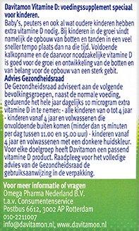 Davitamon Vitamine D Kinderen Smelttabletten Gezondheidsraad