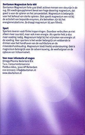 Davitamon Magnesium Forte Tabletten Voordelen