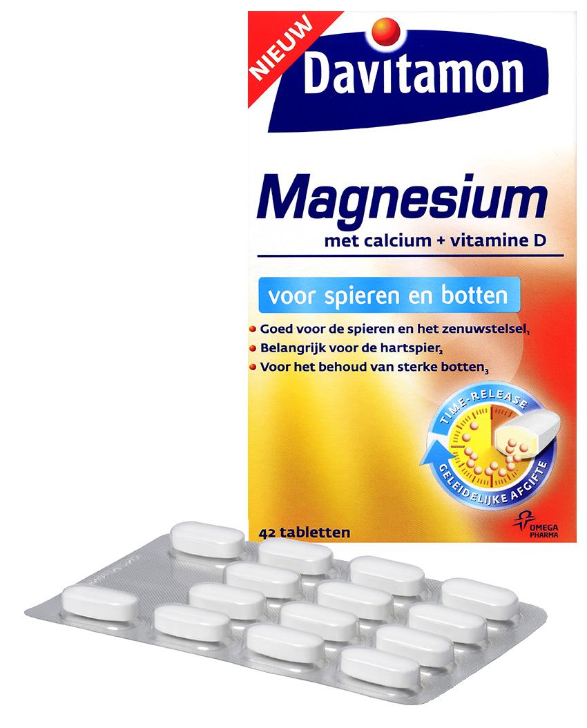 Davitamon Magnesium voor Spieren en Botten – 42 tabletten
