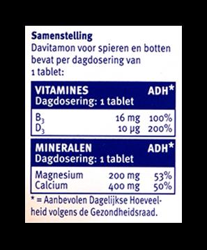Davitamon Magnesium Spieren Botten Tabletten Dosering