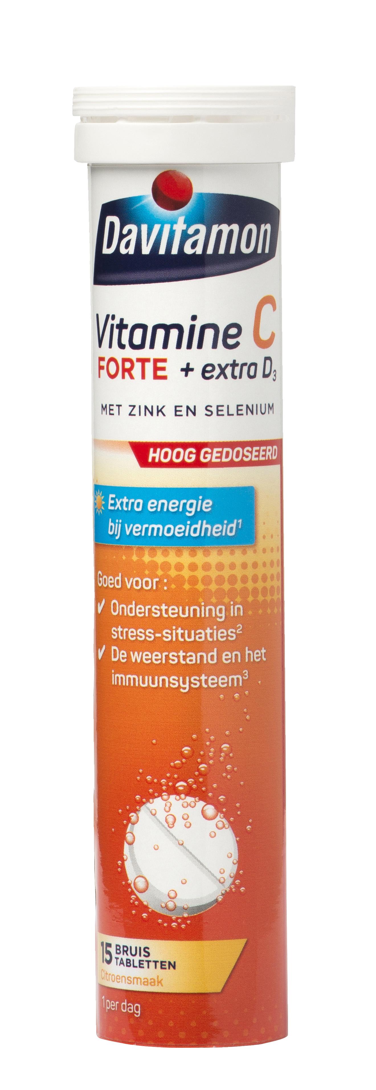 Davitamon Vitamine C Forte + extra D<sub>3</sub> &#8211; 15 bruistabletten