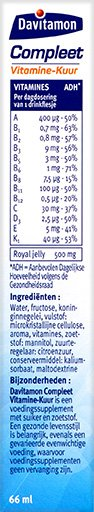 Davitamon Compleet Vitamine Kuur Drinkflesjes Ingredienten