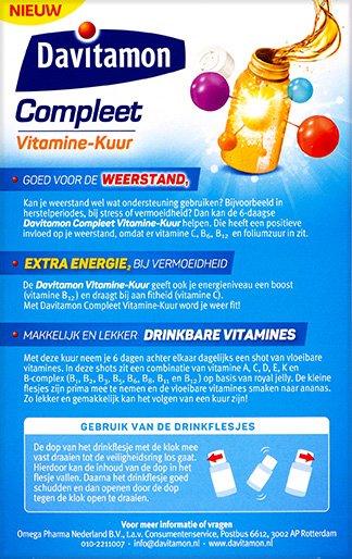 Davitamon Compleet Vitamine Kuur Drinkflesjes Voordelen