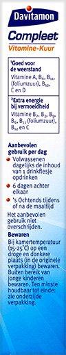 Davitamon Compleet Vitamine Kuur Drinkflesjes Beschrijving