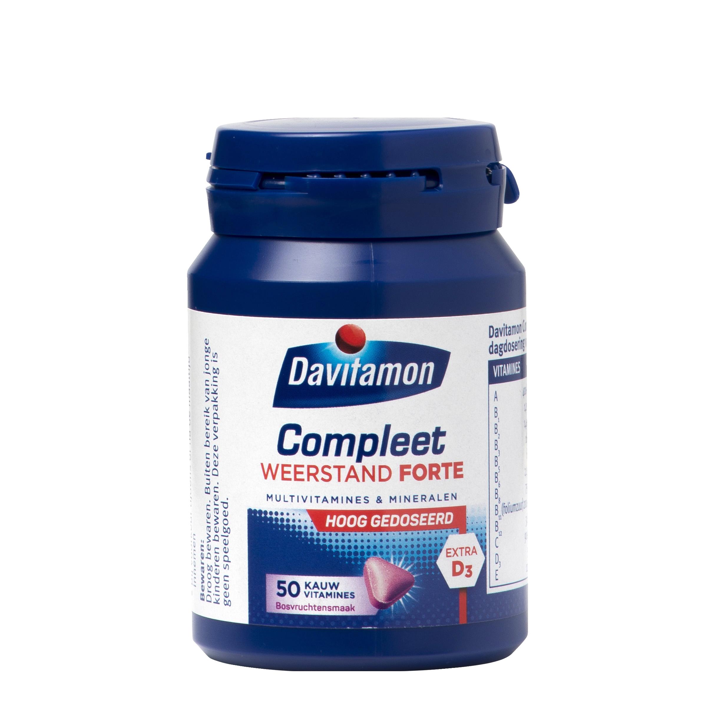 Davitamon Compleet Weerstand Forte Kauwvitamines Product