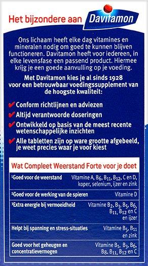 Davitamon Compleet Weerstand Forte Kauwvitamines Voordelen
