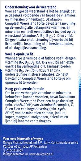 Davitamon Compleet Weerstand Forte Beschrijving