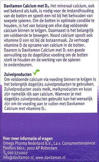 Davitamon Calcium Vitamine D Tabletten Beschrijving