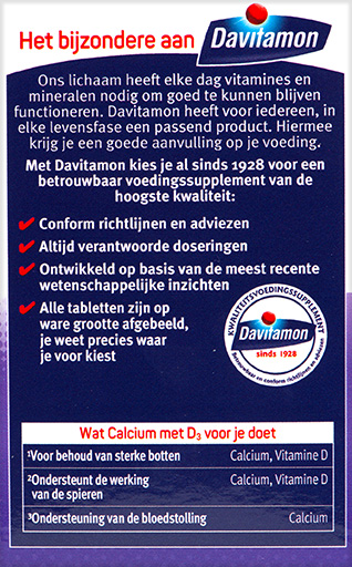 Davitamon Calcium Vitamine D Tabletten Voordelen