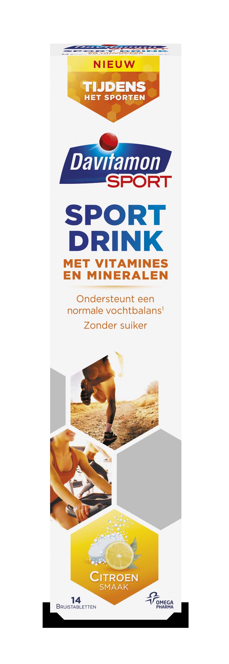 Davitamon Sport Drink Bruistabletten Verpakking