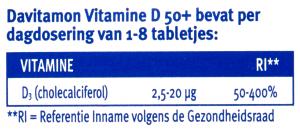 Davitamon Vitamine D50+ - dagdosering tabletjes