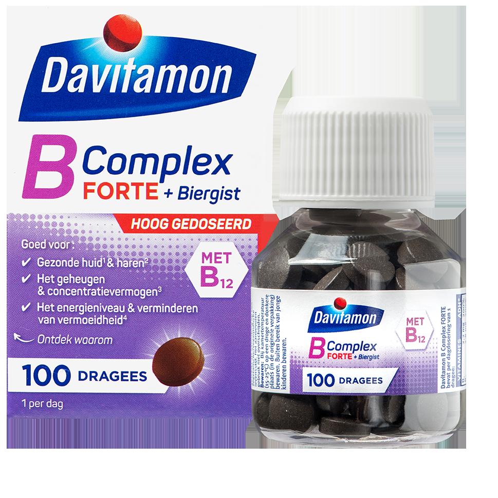 Davitamon B Complex Forte dragees verpakking totaal