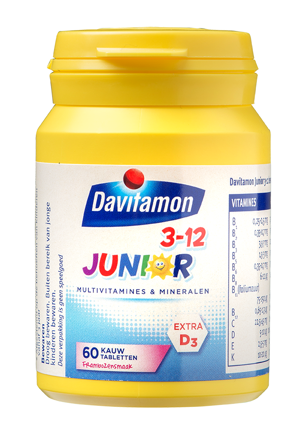 Davitamon Junior framboos Kauwtabletten Product