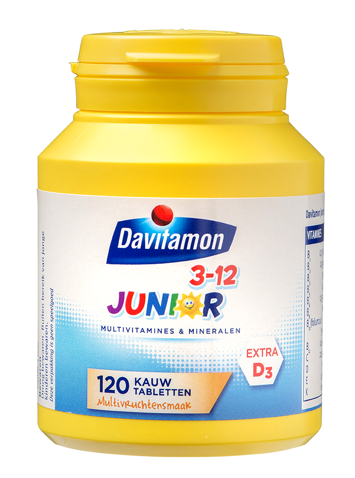 Davitamon Junior multivrucht 120 Kauwtabletten Product