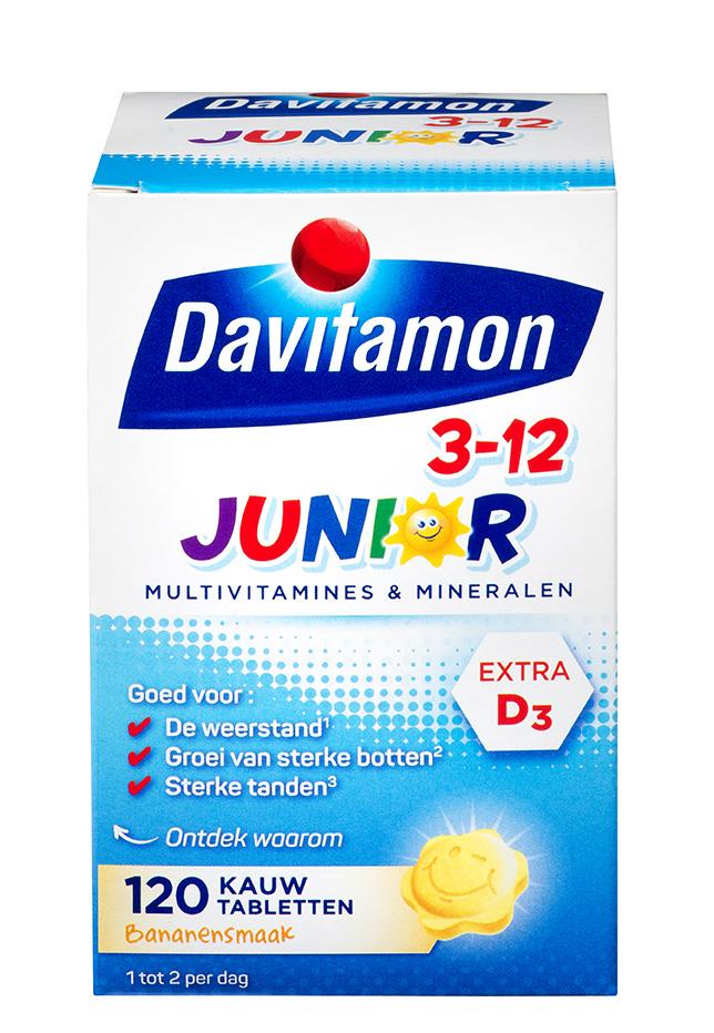 Davitamon Junior Banaan Kauwtabletten Verpakking 2