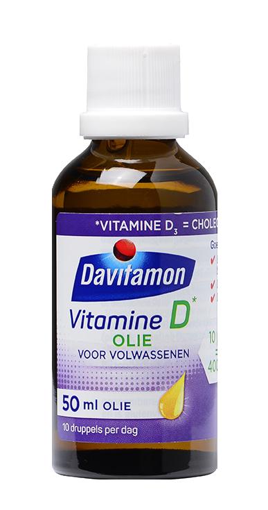 Davitamon Vitamine D Olie voor Volwassenen – 50ml