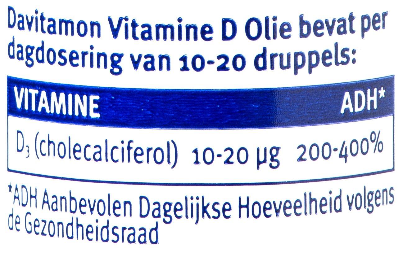 Davitamon Vitamine D olie volwassenen dosering