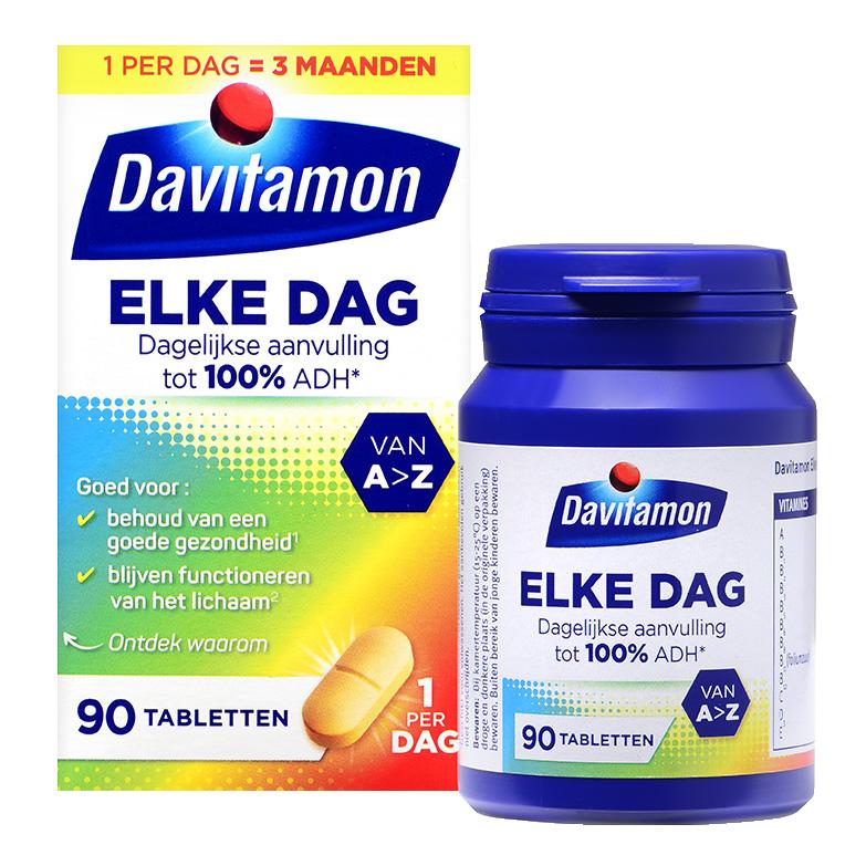 Davitamon Elke Dag Tabletten Verpakking totaal