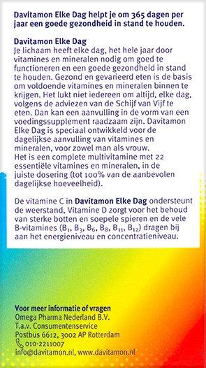 Davitamon Elke Dag Tabletten Beschrijving