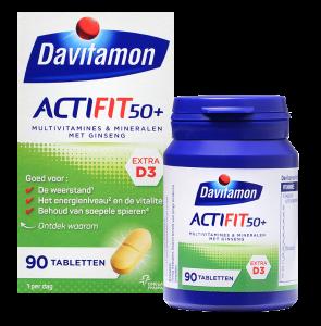 Davitamon ActiFit 50+ Tabletten Verpakking totaal